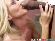 Simone Sonay and Miley Mae fucked by a BBC in hot threesome!