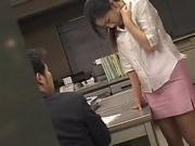 Jav busty secretary has to fuck the friend of her boss