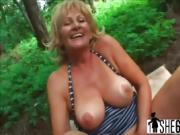 Adventurous granny with huge melons