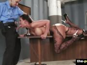 Busty Phoenix Marie Sucking a Prison Officers Big Cock