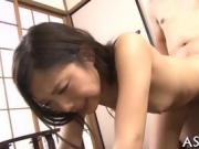 Salacious Asian pussy fingering