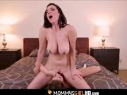 Mom Helps Daughter With Huge Tits