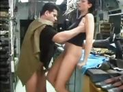 A female seduced repairman in factory floor- 2 HDMilfCam com