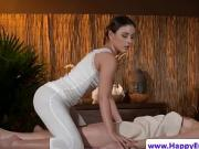 Smalltitted lesbian massaged beauty oiled up and pussy rubbed
