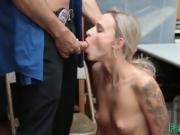 blonde fuck with police in the office
