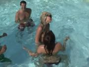 Horny Couples Play And Tease In A Public Pool