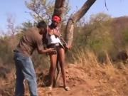 African busty tied to tree whipped maledom