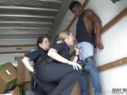 Hot teen s brunette blonde Black suspect taken on a harsh rid