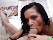 Smalltitted babe assfucked after giving bj