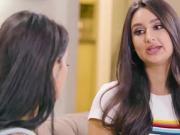 Teen latina facesits her latina coworker