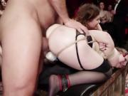 Female slaves anal fucked and catle proded