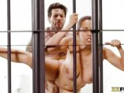 Busty police officer Isis Love gets pounded in jailcell