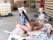 Tantalizing cowgirls getting her twat banged