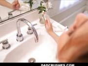 Cute Teen Stepdaughter Fucked By Dad While Brushing Teeth