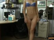 Babe sells ttying to sell bags and railed by pawn man