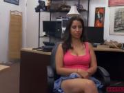 Hardcore office fuck with beautiful brunette Nina