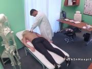 Doctor fucks big boobs blonde in office