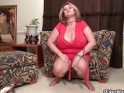 A Big Beautiful Women Puts On A Strip Show