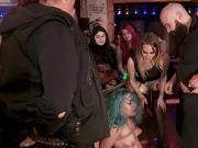Spanish punker group bdsm fucked in public bar