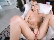 Dude anal fucks blonde gf in chair