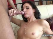 Brunette babe India Summer takes a dick in her mature twat
