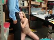 Zoe Parkers tight pussy railed hardcore by LP Officer