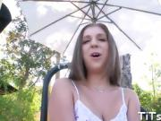 Hot doll receives deep and arousing doggystyle drilling