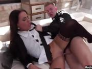 Silvia Dellai and Eveline Dellai DPed by huge hard cocks