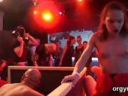 Fervid stunners give blowjob and enjoy banging and groupsex