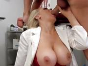 Busty Doctor Julia Ann Blows Big Cock Of Patient