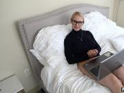 Blonde MILF stepmom wants new round with her boy