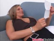 Mom likes my thick black cock and gave riding action