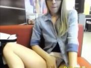Cute Teen flashing tits in a bar