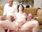 Fat old man fucks girl Frannkie heads and munches her poon a