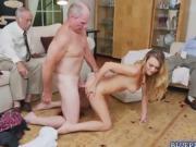 Sexy blonde Molly Mae fucks 3 aged cocks