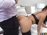 Lucky Lana was able to sucked him off deep in her throat