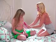 Scarlett ass fingered by stepmom