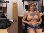 Lusty tattooed lady hammered by pawn man