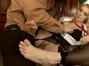 HubxPorn Stockings temptation office sex