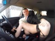 Huge tits lady Barbie Sins fucked by driving instructor