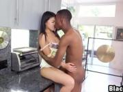 Interracial fucking with Japanese babe