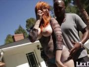 Gorgeous Redhead Laurens pussy widening by a big black cock