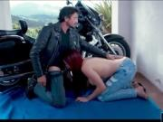 Huge tits redhead babe Skyla Novea gets fucked by a rider