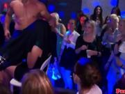Party Girls In The Club Sucking Male Stripper Dick