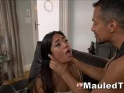 Dirty Latin Slut Asks For Slapping And Harsh Anal