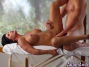 Busty seasoned babe cum covered after fucking masseur