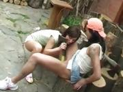 Hot lesbians scissoring black and white xxx Cutting wood and