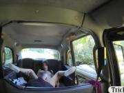 Small tits amateur passenger gets nailed by the driver