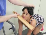 Spicy sweetie was brought in anal hole loony bin for harsh th