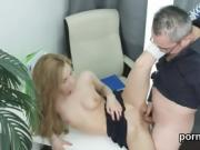 Nice college girl was teased and plowed by her older mentor